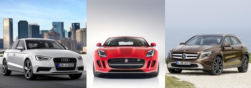 Audi_A3_Jaguar_Ftype_Mercedes_GLA-zrodlo-materialy-prasowe-producentow