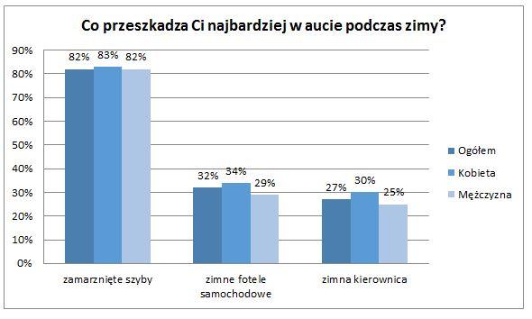Co denerwuje polskich kierowców podczas zimy?
